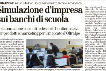 Simulazione d'impresa in classe all'ITE