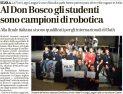 Al Don Bosco gli studenti sono campioni di robotica (L'Arena, marzo 2017)