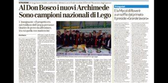 La Regione Veneto e la stampa sulla vittoria della squadra di Robotica del Don Bosco